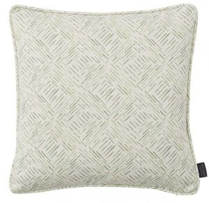 Grassland Sage Abstract Cushion by Claire Gaudion