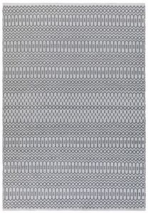 Halsey Grey Geometric Rug by Asiatic