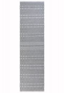 Halsey Grey Geometric Runner by Asiatic