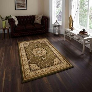Heritage 4400 Green Traditional Runner By Think Rugs