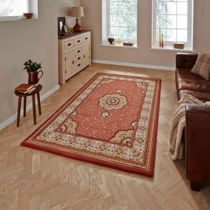 Heritage 4400 Terracotta Traditional Runner By Think Rugs