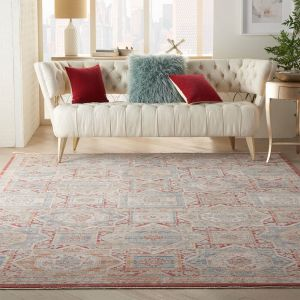 Homestead HMS02 Blue Brick Traditional Rug by Nourison