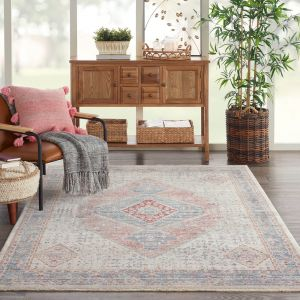 Homestead HMS03 Blue Grey Traditional Rug by Nourison