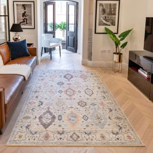 Heritage HRTG102 Ivory Multi Traditional Rug by Concept Looms