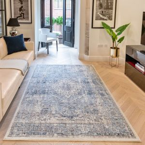 Heritage HRTG106 Ivory Grey Blue Traditional Rug by Concept Looms