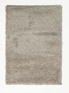 Athena Shine Hudson Beige White Shaggy Rug by Flair Rugs