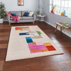 Inaluxe Hey Ho Let's Go IX14 Designer Wool Rug by Think Rugs