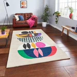 Inaluxe Neon IX11 Designer Wool Rug by Think Rugs