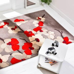 Infinite Blossom Red Floral Rug By Flair Rugs