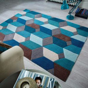 Infinite Scope Teal Rug by Flair Rugs