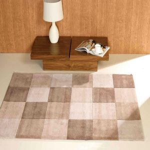 Infinite Squared Natural Polyester Rug By Flair Rugs