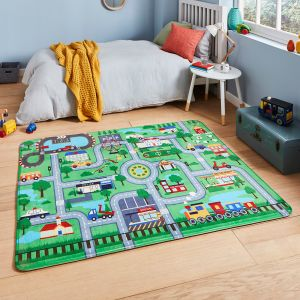 Inspire G4563 Green Kids Rug by Think Rugs