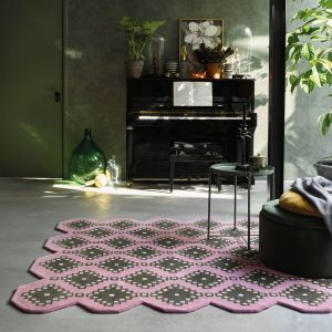 Iviv 160702 Pink Wool Rug by Ted Baker