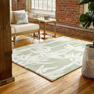 Japanese Bamboo Jade 039507 Wool Rug by Florence Broadhurst