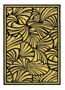 Japanese Fans Gold 039305 Wool Rug by Florence Broadhurst