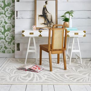 Japanese Fans Ivory 039301 Wool Rug by Florence Broadhurst