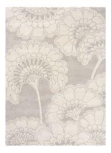 Japanese Floral Oyester 039701 Wool Rug by Florence Broadhurst