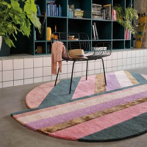 Jardin 160902 Pink Wool Rug by Ted Baker