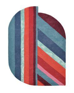 Jardin 160908 Blue Wool Rug by Ted Baker