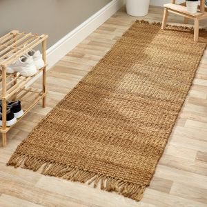 Jute Extra Natural Handmade Braid Stitched Runner by Origins