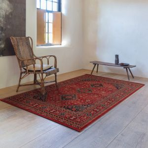 Kashqai 4345 300 Red Traditional Wool Rug By Mastercraft