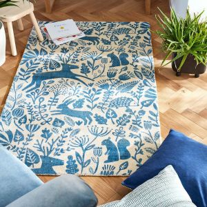 Kelda 023508 Cobalt Wool Rug by Scion
