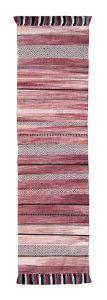 Kelim Stripe Pink Flatweave Runner by Oriental Weavers