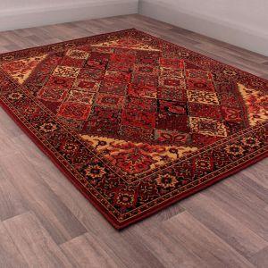 Keshan Heritage Baktiari Red Wool Rug by HMC