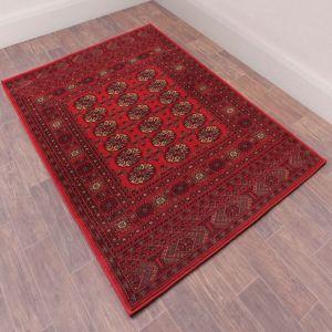 Keshan Heritage Bochara Red Wool Runner by HMC