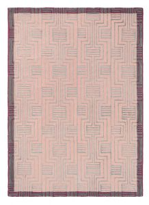 Kinmo 56802 Pink Hand Tufted Wool Rug by Ted Baker