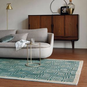 Kinmo 56807 Green Hand Tufted Wool Rug by Ted Baker