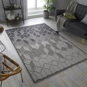 Kinsley Dartmouth Pink Grey Rug by Flair Rugs