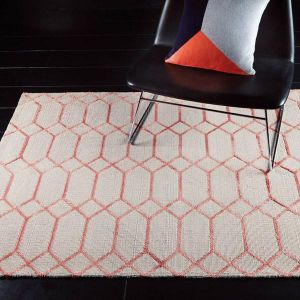 Koko Coral Geometric Rug By Asiatic
