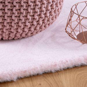 Lambada LAM 835 Powder Pink Shaggy Circle Rug by Obsession