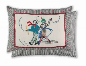 Lambeth Walk Rouge WYC00146X Cushion by William Yeoward