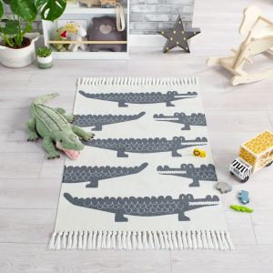 Leka Snap Grey Children Rug by Flair Rugs