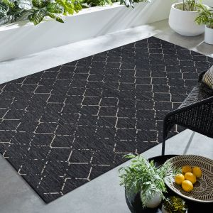 Lesina Diamond Charcoal Geometric Rug by Flair Rugs
