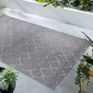 Lesina Diamond Grey Geometric Rug by Flair Rugs