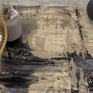 Lexington Beige Abstract Rug by Floorita