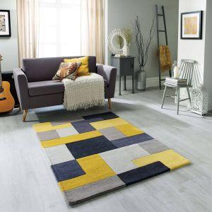 Lexus Yellow Wool Rug by Oriental Weavers