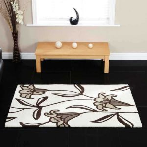 Lily Ivory Floral Rugs By Ultimate Rug