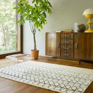 Linear Stem Ombre 061107 Basil Wool Rug by Orla Kiely