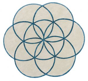 Lotus Blue Wool Rug by Asiatic