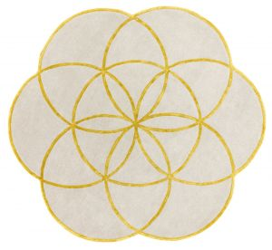Lotus Gold Wool Rug by Asiatic