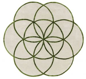 Lotus Green Wool Rug by Asiatic