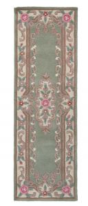 Lotus Premium Ambussion Green Runner By Flair Rugs