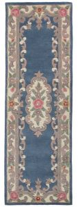 Lotus Premium Ambussion Blue Runner By Flair Rugs