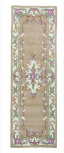Lotus Premium Aubusson Fawn Runner by Flair Rugs