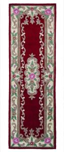 Lotus Premium Dynasty Wool Aubusson Red Runner By Flair Rugs