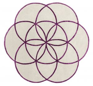Lotus Purple Wool Rug by Asiatic